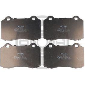Bremsbelagsatz, Scheibenbremse Breite: 69,1mm, Dicke/Stärke: 14,7mm mit OEM-Nummer 6KL698151