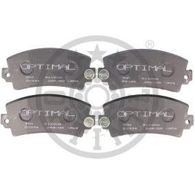 Bremsbelagsatz, Scheibenbremse Breite: 68,27mm, Dicke/Stärke: 20,3mm mit OEM-Nummer 34116776161