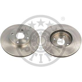 OPTIMAL  BS-1840 Bremsscheibe Bremsscheibendicke: 22mm, Ø: 257mm