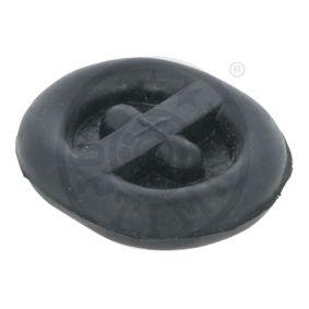 OPTIMAL Haltering, Schalldämpfer F8-4027 für AUDI 80 (8C, B4) 2.8 quattro ab Baujahr 09.1991, 174 PS
