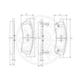 Brake Pad Set, disc brake Article № 12552 £ 140,00