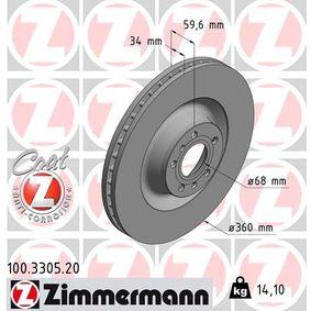 Bremsscheibe Art. Nr. 100.3305.20 120,00€