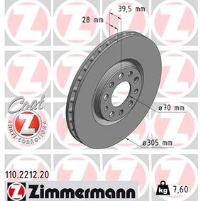 Bremsscheibe Bremsscheibendicke: 28mm, Felge: 5-loch, Ø: 305mm mit OEM-Nummer 517 606 21