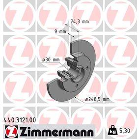 Bremsscheibe Ø: 248,5mm mit OEM-Nummer 42 49 66