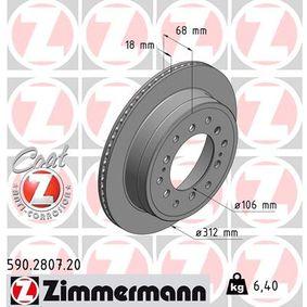 Disque de frein Épaisseur du disque de frein: 18mm, Jante: 5Trou, Ø: 312mm avec OEM numéro 4243160270
