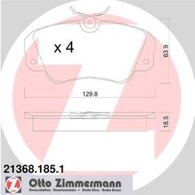 Bremsbelagsatz, Scheibenbremse Breite: 129,8mm, Höhe: 63,9mm, Dicke/Stärke: 18,5mm mit OEM-Nummer 16 05 004