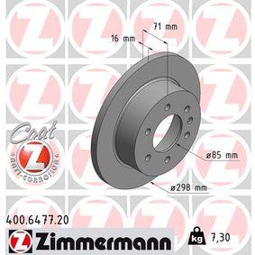 ZIMMERMANN COAT Z 400.6477.20 Bremsscheibe Ø: 298mm