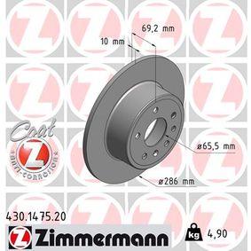 Bremsscheibe Ø: 286mm mit OEM-Nummer 4839338