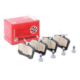Jogo de pastilhas para travão de disco Largura: 87mm, Altura: 53mm, Espessura: 16mm com códigos OEM JZW 698 451 C