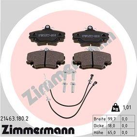 Bremsbelagsatz, Scheibenbremse Breite: 100mm, Höhe: 65mm, Dicke/Stärke: 18mm mit OEM-Nummer 6000008126