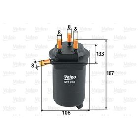Fuel filter Height: 187mm with OEM Number 8200 458 337