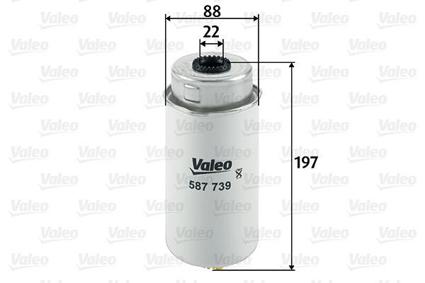 Filtru combustibil 587739 VALEO 587739 de calitate originală