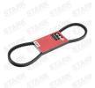 STARK Keilriemen SKCB-0080026 für AUDI COUPE (89, 8B) 2.3 quattro ab Baujahr 05.1990, 134 PS