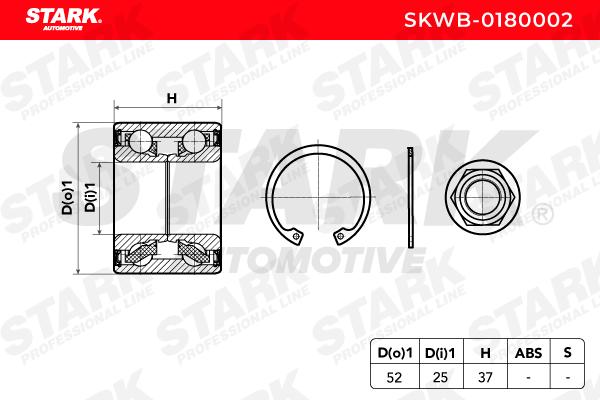 Hjullagersats STARK SKWB-0180002 Expertkunskap