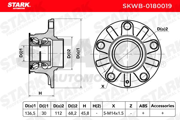 Radlagersatz STARK SKWB-0180019 4059191029730