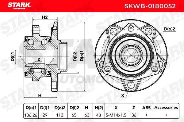 Radlagersatz STARK SKWB-0180052 4059191030057