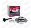 Buje de rueda STARK 7587938 eje delantero, ambos lados, con anillo sensor ABS, con cojinete rueda incorporado