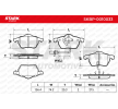 OEM Brake Pad Set, disc brake SKBP-0010033 from STARK