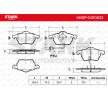 Bremseklosser VW Passat Variant (3C5) 2011 produksjonsår 7588734 STARK framaksel, inkl. slitasjevarselkontakt