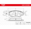 Disk brake pads STARK 7588781 Front Axle, excl. wear warning contact