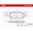 STARK Brake pad set JEEP Front Axle, incl. wear warning contact