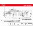 STARK Hinterachse, inkl. Verschleißwarnkontakt, mit Bremssattelschrauben SKBP0010201