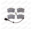Brake pads TOYOTA RAV 4 II (CLA2_, XA2_, ZCA2_, ACA2_) 2002 year 7589043 STARK Rear Axle, incl. wear warning contact