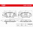 STARK Brake pad set SSANGYONG with acoustic wear warning