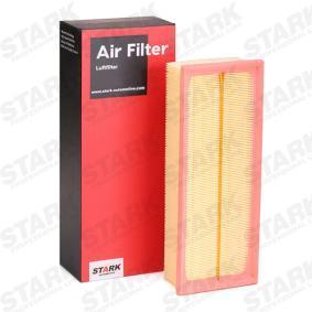 Luftfilter Länge: 344,5mm, Breite: 135,5mm, Höhe: 70mm mit OEM-Nummer 1K0129620D