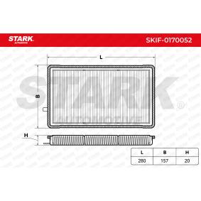 Filtro, aire habitáculo SKIF-0170052 3 Compact (E36) 316i 1.9 ac 2000