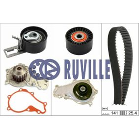 Water pump and timing belt kit with OEM Number 1753587