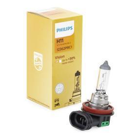Крушка с нагреваема жичка, фар за дълги светлини H11, 55ват, 12волт, Vision 12362PRC1 VW GOLF, PASSAT, TOURAN