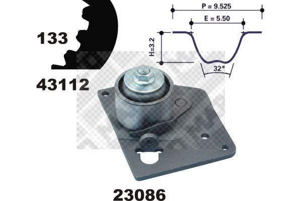 MAPCO  23103 Zahnriemensatz Breite: 26mm
