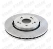 Discos de freno HONDA CR-V 4 (RM_) 2015 Año 7607119 STARK ventilación externa, sin buje de rueda, sin perno de sujeción de rueda