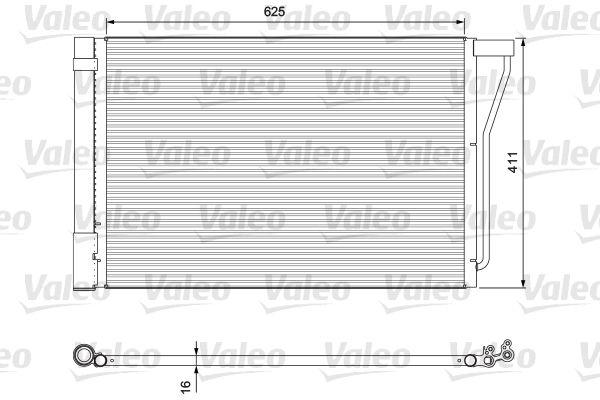 VALEO  814388 Kondensator, Klimaanlage Kältemittel: R 134a