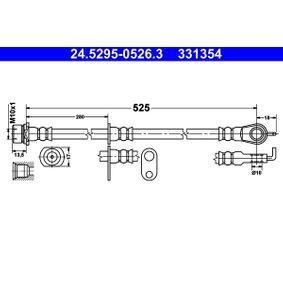 Bremsschlauch Länge: 525mm, Innengewinde: M10x1mm mit OEM-Nummer 90947-02A45