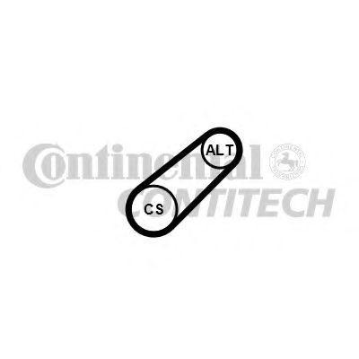 Keilrippenriemensatz 6PK701 ELAST T1 CONTITECH 6PK683ELAST in Original Qualität