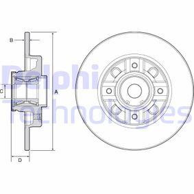 Bremsscheibe Bremsscheibendicke: 9mm, Lochanzahl: 4, Ø: 249mm mit OEM-Nummer 4249,65
