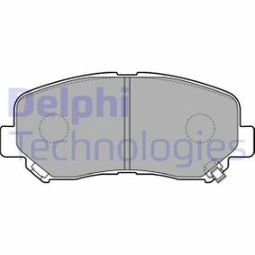 Bremsbelagsatz, Scheibenbremse Höhe: 61mm, Dicke/Stärke 2: 16mm mit OEM-Nummer 25564 DELPHI