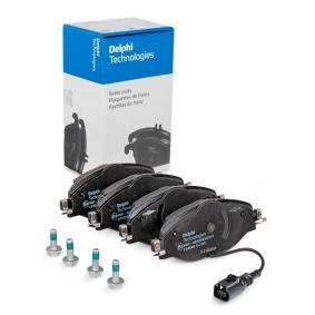 Kit de plaquettes de frein, frein à disque Hauteur: 64mm, Epaisseur 2: 20mm avec OEM numéro 5Q0 698 151B