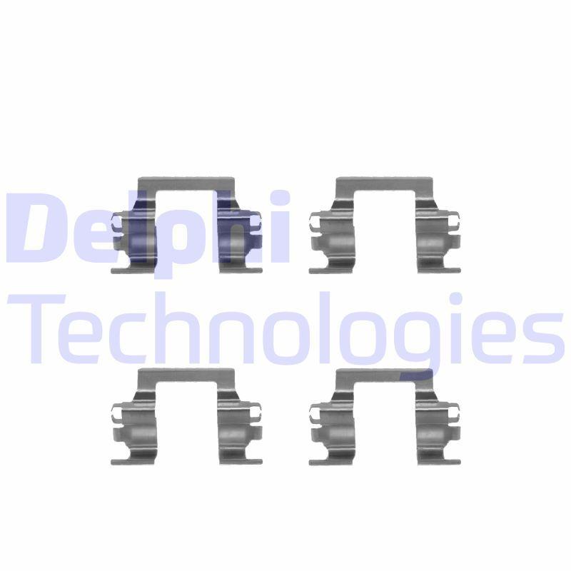DELPHI  LX0207 Zubehörsatz, Scheibenbremsbelag