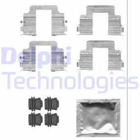 DELPHI  LX0555 Zubehörsatz, Scheibenbremsbelag