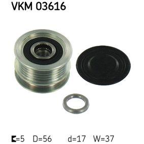 Generatorfreilauf VKM 03616 CLIO 2 (BB0/1/2, CB0/1/2) 1.5 dCi Bj 2010