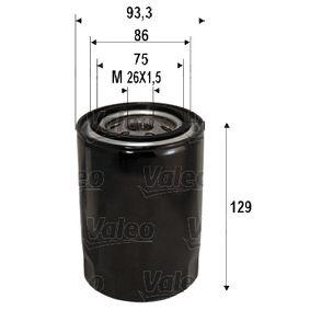 Filtro olio Ø: 93,3mm, Diametro interno 2: 86mm, Diametro interno 2: 75mm, Alt.: 129mm con OEM Numero 1651185E00