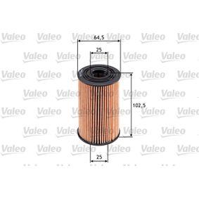 Oil Filter Ø: 64,5mm, Inner Diameter: 25mm, Inner Diameter 2: 25mm, Inner Diameter 2: 25mm, Height: 102,5mm with OEM Number 26320 3C700