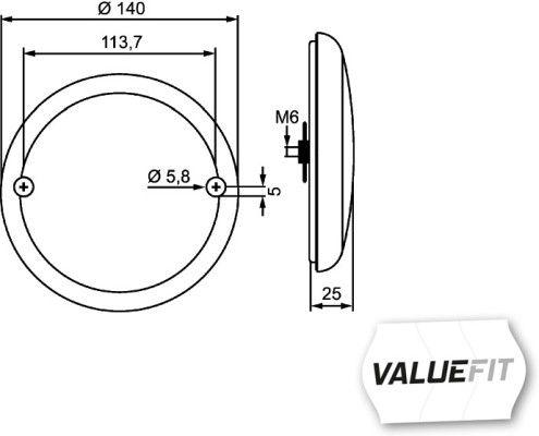 Piloto antiniebla posterior HELLA 2NE 357 026-031 evaluación