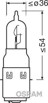 Glühlampe, Fernscheinwerfer 64327-01B OSRAM S2 in Original Qualität