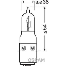 Крушка с нагреваема жичка, фар за дълги светлини S2, 35/35ват, 12волт, ORIGINAL MOTORCYCLE 64327-01B