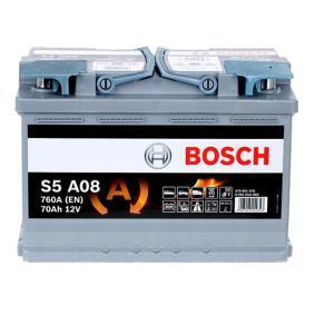 Batería VW PASSAT Variant (3B6) 1.9 TDI de Año 11.2000 130 CV: Batería de arranque (0 092 S5A 080) para de BOSCH