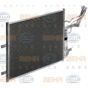 Condensador MAZDA 3 (BK) 1.4 de Año 10.2003 84 CV: Condensador, aire acondicionado (8FC 351 343-321) para de HELLA